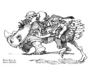 rhino racing osterich