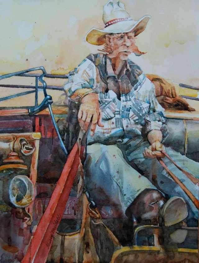 "Driving Durango 11.5"" x 15.5"" watercolor (sold)"