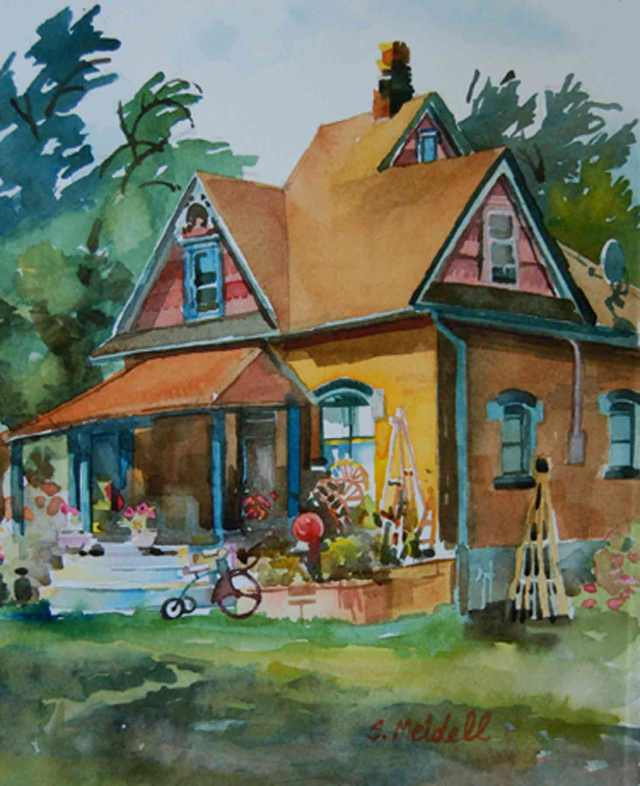 "Hyrum House 10""x14"" watercolor (sold)"