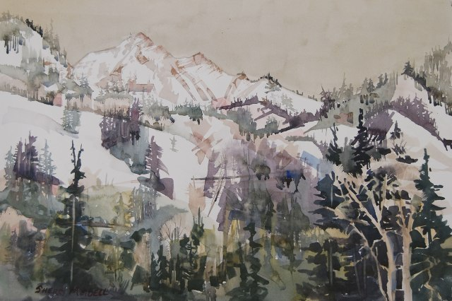"Spring Thaw 14.5""x22"" watercolor"