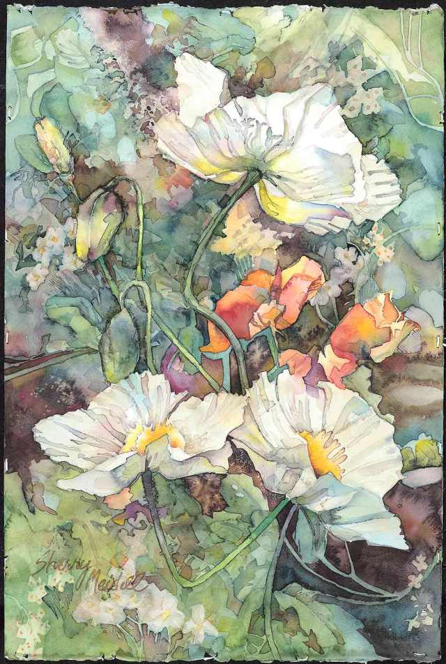 "White Poppies 14""x21.5"" limited edition giclee print"