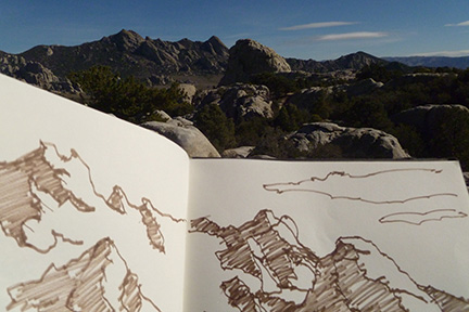 Sketch of City of Rocks