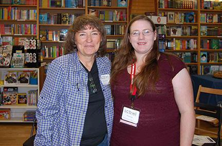 Sherry Meidell, Illustrator Coordinator and Elissa Cruz Assistant Regional Advisor