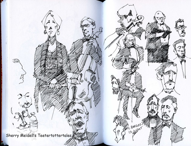 Sketching at the Oratorio Society of Utah, Messiah