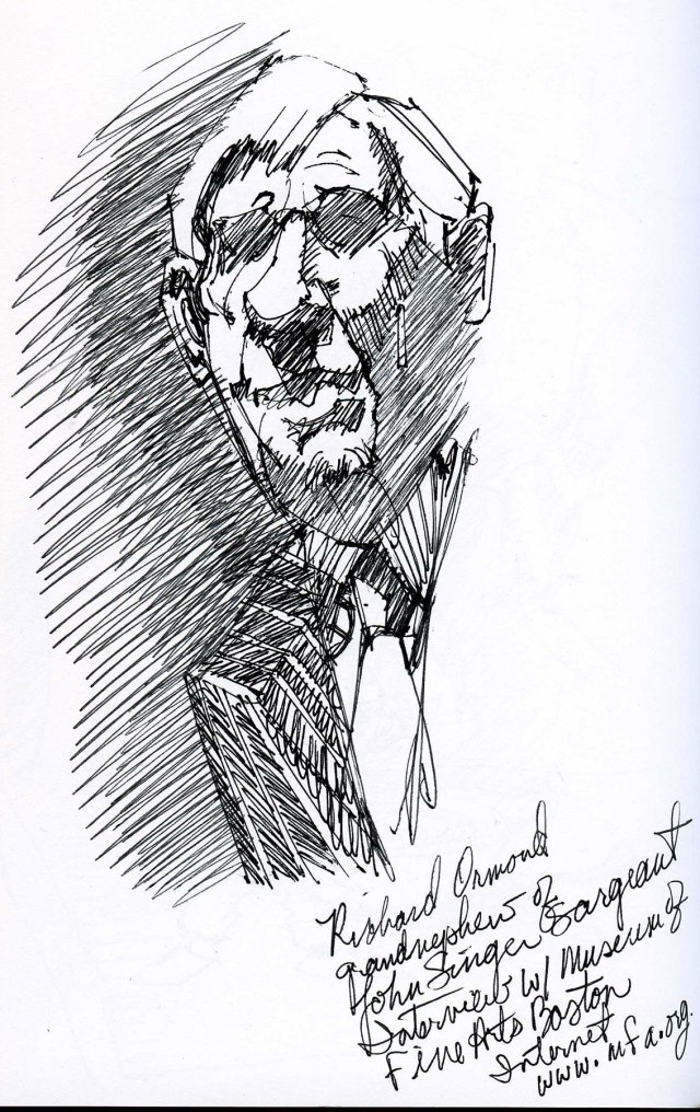 Richard Ormond grand nephew of John Singer Sergeant