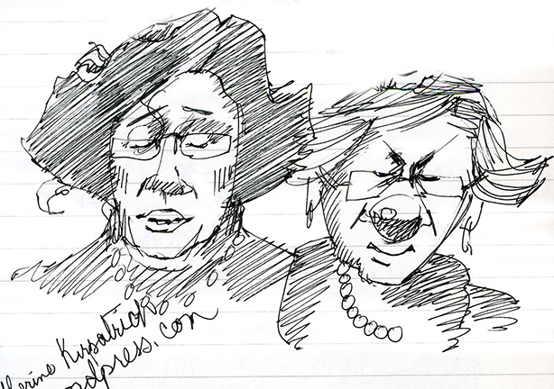 Elizabeth Wein and Linn Oliver, writers