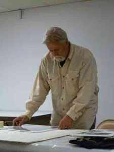 John Salminen at the Utah Watercolor Society Workshop