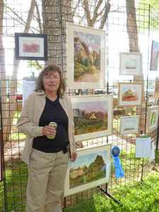 The paintings were displayed at Robber's Roost for judging and auction.