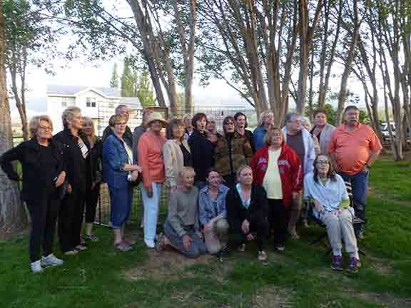 The 30 participating Utah Watercolor Society Artists at Robber's Roost Book Store in Torrey Utah
