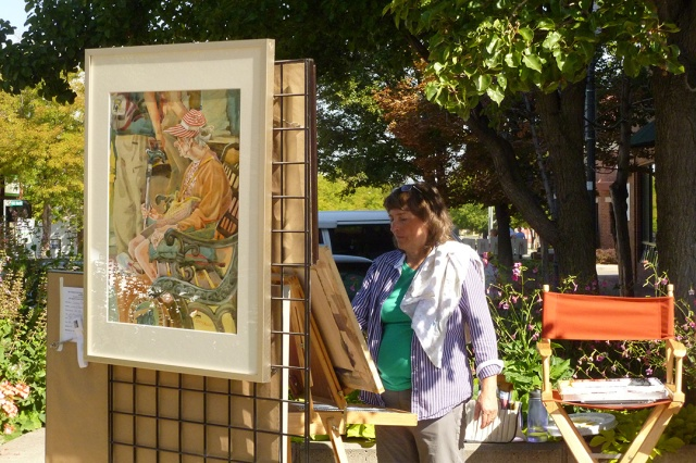 Sherry Meidell plein air painting Bountiful, Utah