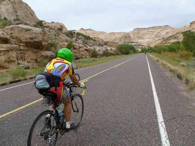 Being passed by the Green Hornet in Capitol Reef National Park