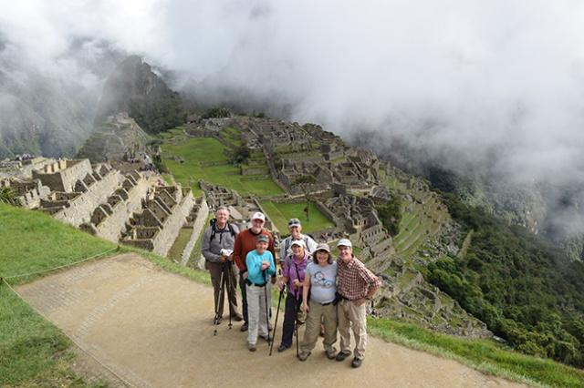 Arrival at destination Machu Pichu