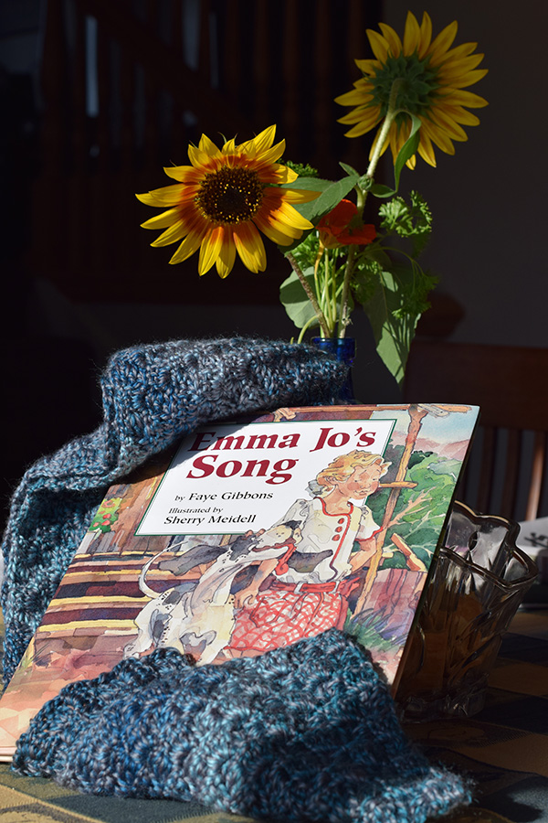 """Emma Jo's Song"" and the hand crafted scarf."